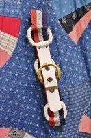 60'S-70'S NAUTICAL ROPE LINK BELT (WHT/NVY/RED)
