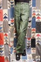 60'S('69) US ARMY COTTON SATEEN BAKER PANTS (OD)