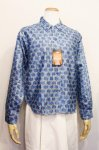 DEAD STOCK 60'S PRINTED COTTON LONG SLEEVE SHIRTS (BLE 34)