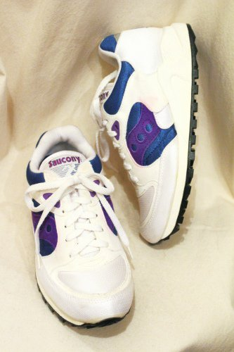 890fb9613432 DEAD STOCK 90 S~ SAUCONY JAZZ 4000 SNEAKER (MADE IN USA WHT BLE PPL) -  PATINAS VINTAGE CLOSET