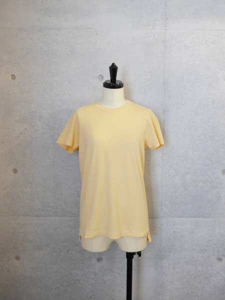 AURALEE SEAMLESS CREW NECK TEE COL.ORANGE BEIGE SIZE/0/1