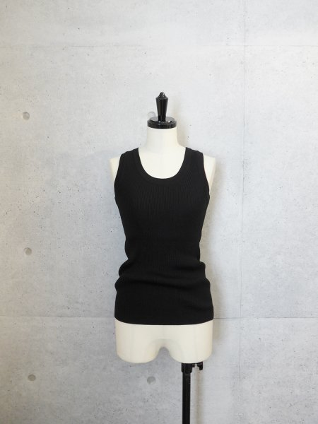 AURALEE HIGH GAUGE RIB KNIT TANK COL.BLACK SIZE/0/1