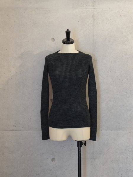 AURALEE WIDE RIB KNIT BOAT NECK P/O COL.MIX GREEN SIZE/0/1<img class='new_mark_img2' src='//img.shop-pro.jp/img/new/icons23.gif' style='border:none;display:inline;margin:0px;padding:0px;width:auto;' />