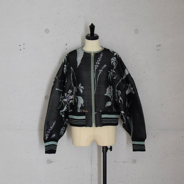 MameKurogouchi FLOWER DOUBLE CLOTH JACKET COL.BLACK SIZE/1