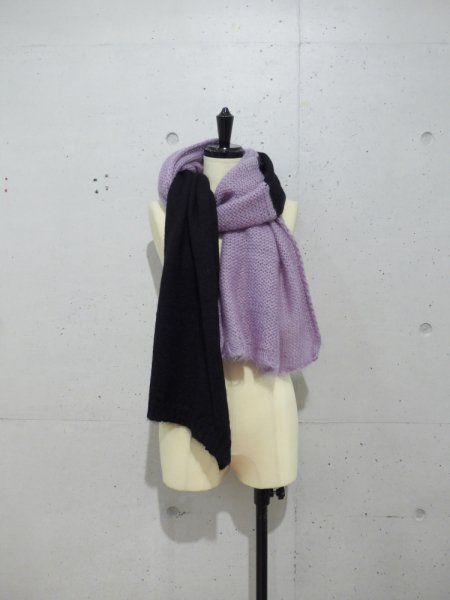 BRANDNEWOLD BI COLOR KNIT STOLE COL.BLACK×LAVENDER<img class='new_mark_img2' src='//img.shop-pro.jp/img/new/icons23.gif' style='border:none;display:inline;margin:0px;padding:0px;width:auto;' />