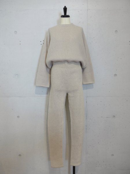 JUN MIKAMI  MOHAIR KNIT JUMP SUITS COL.IVORY<img class='new_mark_img2' src='//img.shop-pro.jp/img/new/icons23.gif' style='border:none;display:inline;margin:0px;padding:0px;width:auto;' />