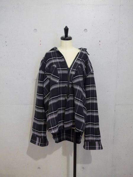 UNUSED PLAID SHIRTS COL.BLACK SIZE/1<img class='new_mark_img2' src='//img.shop-pro.jp/img/new/icons23.gif' style='border:none;display:inline;margin:0px;padding:0px;width:auto;' />
