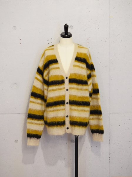 UNUSED MOHAIR KNIT CARDIGAN COL.YEL SIZE/1/2