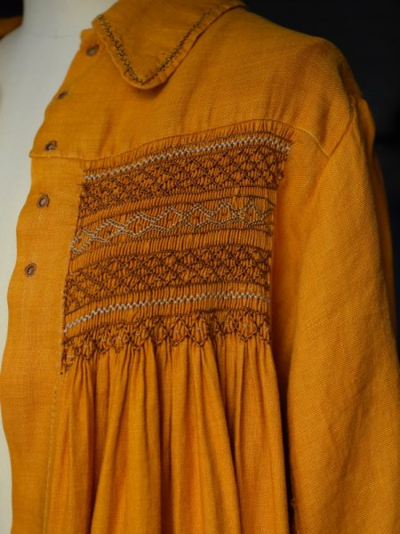 ANTIQUE SMOCKING ROBE