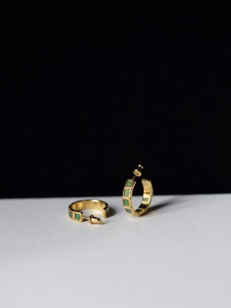R.ALAGAN SMALL TILE EARRINGS