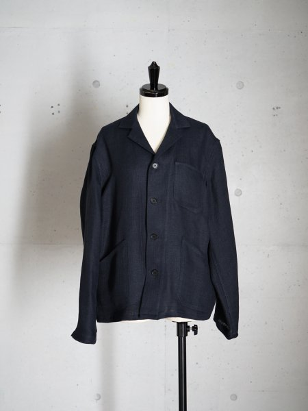 AURALEE LINEN DOUBLE FACE BLOUZON COL.D.NAVY SIZE/0/1<img class='new_mark_img2' src='https://img.shop-pro.jp/img/new/icons23.gif' style='border:none;display:inline;margin:0px;padding:0px;width:auto;' />