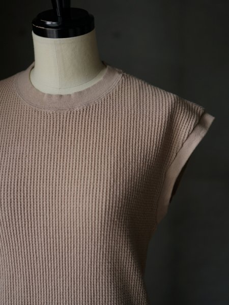 UNUSED THERMAL NO SLEEVE TEE COL.BEIGE SIZE/00/0<img class='new_mark_img2' src='https://img.shop-pro.jp/img/new/icons23.gif' style='border:none;display:inline;margin:0px;padding:0px;width:auto;' />