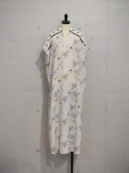 MameKurogouchi FLOWER PRINTED DRESS  COL.YELLOW SIZE/1/2