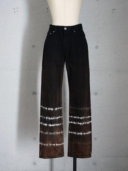 FUMIKA_UCHIDA KATURAGI TIE-DYE STRAIGHT PANTS COL.BLACK SIZE/34/36/38