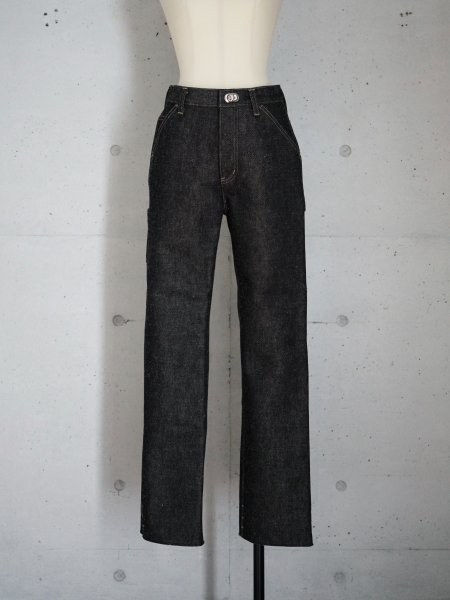 FUMIKA_UCHIDA DENIM BONDING PAINTER PANTS COL.BLACK/BLACK