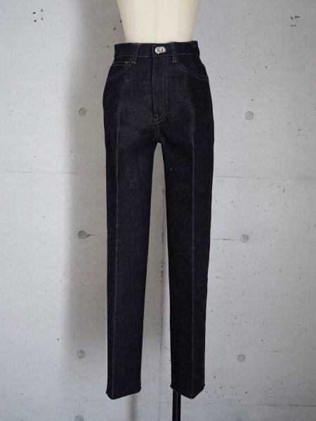 FUMIKA_UCHIDA DENIM BONDING WIDE STRAIGHT PANTS COL.INDIGO/BLACK