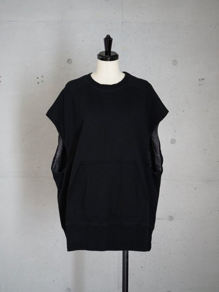 FUMIKA_UCHIDA NO-SLEEVE DOUBLE FACE SWEAT COL.BLK/BLK SIZE/M