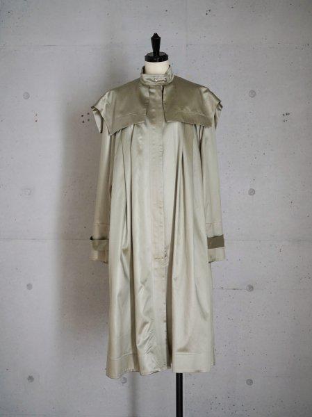 FUMIKA_UCHIDA SATIN DUSTER DRESS COAT / PISTACHIO  / 34