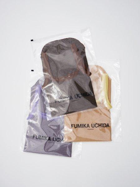 FUMIKA_UCHIDA NEEDLE DRAWING/BORDER STRAIGHT-NECK TANK