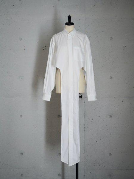 FUMIKA_UCHIDA Oxford/Cache-coeur CROPPED SHIRTS / WHITE