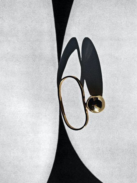 R.ALAGAN SIDE BALL RING / GOLD