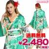 1101E●送料無料●<即納!特価!在庫限り!> TOKYO WISH 着物ドレス FlowerPrincessEmeraldGreen M サイズ:レディース