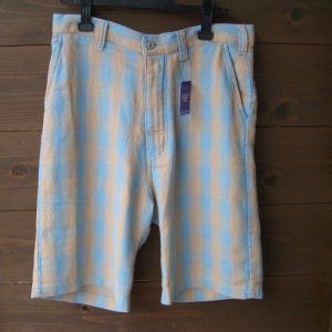 【大決算セール】phatee originary shorts check sax