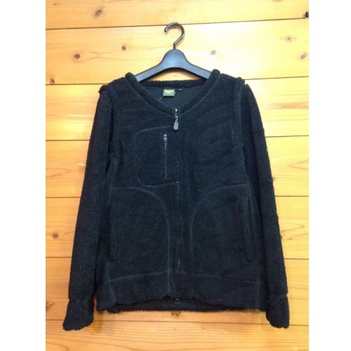 phatee wear ファッティー 2FACE CARDIGAN BLACK