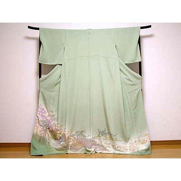 正絹作家物色留袖着物一つ紋■未使用品