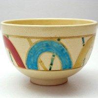 清水焼・宝泉作 ・手描き・抹茶碗