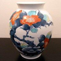 伊万里・鍋島焼・青山窯・花瓶