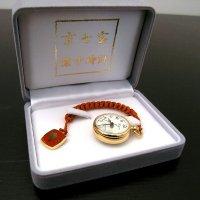 京七宝・懐中時計(帯飾り付)