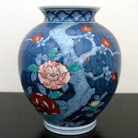 鍋島焼・深山作・花瓶