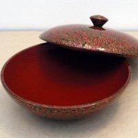 津軽塗(唐塗)蓋付菓子器