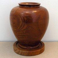 天然木彫・花器・台付