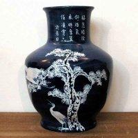 水藍・松鶴・大瓶