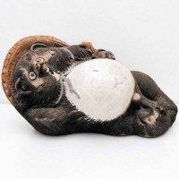 陶製・寝たぬき