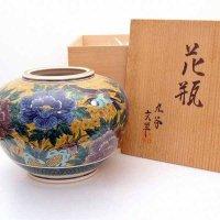 九谷焼・文翠・花瓶