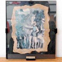アンドレア・マンテーニャ・複製画『馬と犬と使用人』