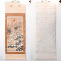 高月玉峰・肉筆・掛軸「縁起百鶴之図」