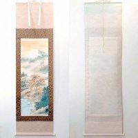 大山翠谷・日本画・掛軸「秋景富峰図」