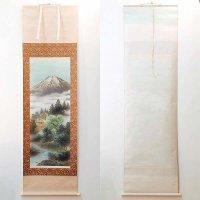 大山翠谷・日本画・掛軸「夏景富峰図」