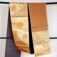 六通・正絹・純金箔糸・袋帯