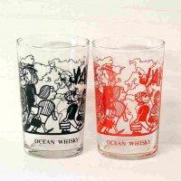 保谷クリスタル・ホワイトオーシャン・グラス・11個セット