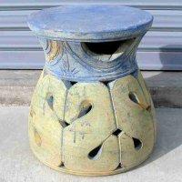 アンティーク・椅子・台・陶製