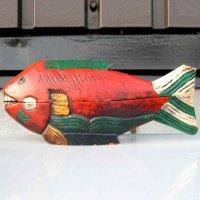 木製・置物・魚・小物入れ