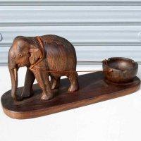 木製・象・置物・灰皿