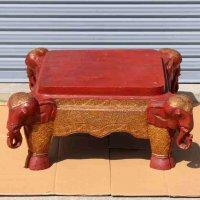 木製・象・テーブル