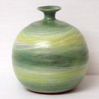 翠窯・釉彩壺