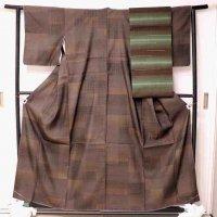 生紬・紬袋帯・帯揚・帯締・セット